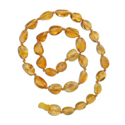Natural Baltic Amber Teething Necklace in Lemon Colour (Polished) 28cm - 29cm