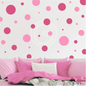 Assorted Vinyl Polka Dots circle wall decals vinyl stickers nursery decor