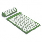 Deluxe Yoga Acupressure Green Mat and Pillow Set