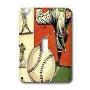 3dRose LLC lsp_38424_1 Blue Bolt Baseball Comic Books, Single Toggle Switch