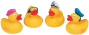 4 x Rubber Duck Water Squirters Bath Time Fun Toys