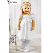 Girls Christening Dress Baby Dress with Headband Size 80 Model 4945