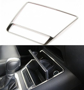 9 MOON® Stainless Steel Console Storage Box Ring Trim fit Volkswagen Vw Tiguan 2011+