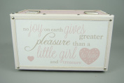 Pink and White Polka Dot Little Girls Opening Memory Treasure Box with Verse