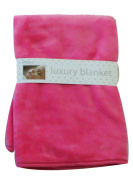 PitterPatter Babies 75x75 cm double layered mink fur on both sides blankets Pink