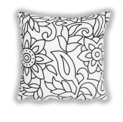 Bollywood Black and White Pillow Cushion 80 x 80 cm