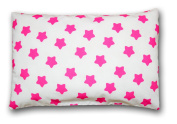 Decorative Pillow Case 40cm x 40cm A22 Gingerbread Fuchsia/Pink on White