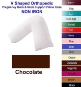 .V Shape Orthopaedic Pregnancy Support Pillow With Free Pillow case. - Chocolate