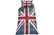 Cheque Union Jack Multicoloured Bedding Set - Single.