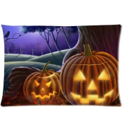 1Croninoutlet shop Halloween pumpkins background Cotton Linen Decorative Throw Pillow Cover Cushion Case Pillow Case,two-sided print,41cm x 60cm