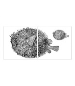 Tile Stickers for Kitchen or Bathroom Blowfish