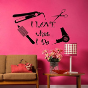 Wall Decal Beauty Salon Hair Spa Fashion Styling is my life Haircut Scissors Decals Vinyl Sticker Decor Art Mural Black Friday Sale (MN871)