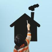 House chalkboard wall sticker