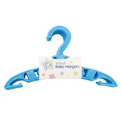 10 PACK OF BABY HANGERS BLUE