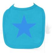 Racker N Roll Blue Star Pastel Baby Bib Baby Bib Blue Atoll Blue Atoll