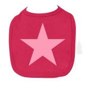 Racker N Roll - Baby Pink Star Pastel Sorbet Baby Bib Baby Bib Sorbet