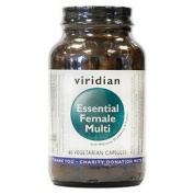 Viridian Essential Female Multi - Hibiscus and Cranberry - 60 Vegicaps by Viridian