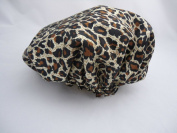 Shower Cap, P & T The Socialite Collection Shower Cap Safari Spots Leopard cap satin material double thick dry hair cap shower cap