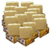 15 x CARIA Olive Oil Soap Bar with Raw Honey (Locally Sourced All Natural ingredients) Traditional Castile Handmade Turkish