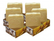 6 x CARIA Olive Oil Soap Bar with Raw Honey (Locally Sourced All Natural ingredients) Traditional Castile Handmade Turkish