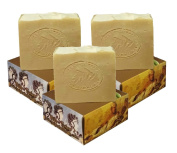 3 x CARIA Olive Oil Soap Bar with Raw Honey (Locally Sourced All Natural ingredients) Traditional Castile Handmade Turkish