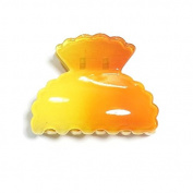 Crab shape plastic shell Yellow - Hair Accessory Clip - 6 cm