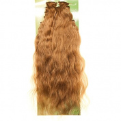Dream Brazilian Wave Set of 8 Brown Human Hair Clip In Hair Extensions