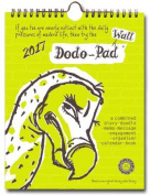 Dodo Wall Pad 2017 - Calendar Year Wall Hanging Week to View Calendar Organiser