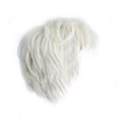 Tenflyer Fashion Man Short Platinum Blonde Rice White Straight Wig