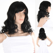 Fancy-Dress Wig 60 cm Long Straight/Curly Hair Black Replacements Spare Hair For Hair Loss, Chemo or also for Photo Shoots and Carnival - HR - A0453 _ 1 # Shipping from Germany for Salesman Ladies shair. de