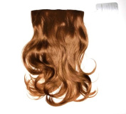 Ladie's Wig Clip In Hair Piece Extensions Red/Brown Feels Like Real Hair. Length 40 cm, 50 g in weight. HR D0716 _ 33