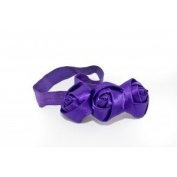 Headband with Three Roses - Bordeau