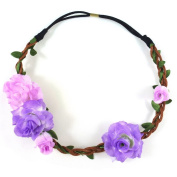 rougecaramel - Ceremony - or - Flower Crown Headband Wedding Hair Accessories Purple