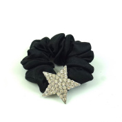 rougecaramel - - Elastic Scrunchie Set Hair Accessories with White Crystal Star in
