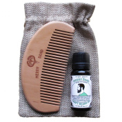 Merry Band Beard Kit | Fresh & Zingy Oil | Wooden Comb