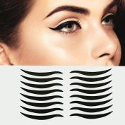 Dolovemk 40 Pairs Temporary Eye Tattoo Transfer Eyeshadow Eyeliner Stickers Eye Make-up Stickers for Brown Eyes, Easy to Apply, 4.3cm X0.4cm