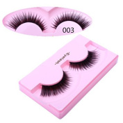 A.H 10 Pairs Hot Newest Make up black lashes Soft Synthetic Fibre False Eyelashes with Glue by A.H