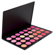 FantasyDay® Pro 28 Colours Large Powder Blush / Blusher Makeup Palette Contouring Kit - Ideal for Professional and Daily Use