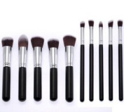 JZK®Professional Soft Makeup Brush Set 10PCS Eyebrow Shadow Blush Cosmetic Foundation Concealer Brush Tools Kit
