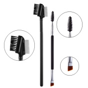 iLuLu Eyelash Comb and Eyebrow Brush Professional Makeup Tools Set 2 Pieces