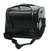 Professional Make Up Nail Tech Cosmetic Box Jewellery Vanity Saloon Case Bag Black