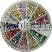Carrousel rhinestones Nail Art Rhinestones 12 Colours Mix - Pack of 720