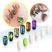 Set of 6 Nail Art Broken Glass - Glass Effect Nail - Broken Glass Nail, False Nails Manicure & Nail Art