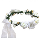 Jelinda Flower Wreath Headband Floral Crown Garland for Wedding Festivals
