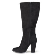 Journee Collection Women's 'Train' Faux Suede Heeled Boot