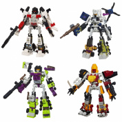 Kre-O Transformers Micro-Changers Combiners Set of 4 - Superion, Bruticus, Devastator & Predaking