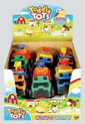 Pack Of 6 - 12cm Toddle Tots Chunky Trucks - Assorted Colours - Party Bag Fillers.