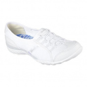 Women's Skechers Relaxed Fit Breathe Easy Allure Bungee Lace Shoe White