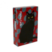 Black Cat Playing Poker Cards by Leslie Gerry