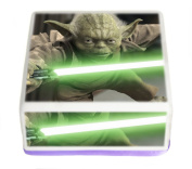 Star Wars Jedi Master Yoda 19cm Inch Square Edible Pre Cut Cake Topper - Printed using Edible Inks on Premium Icing- With FREE Banner Included!